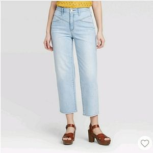 Universal Thread Vintage Straight Cropped Jeans